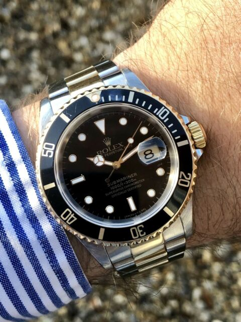 Rolex Submariner 16613 Authentic 18k Gold and Stainless Steel