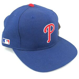 Vintage-Philadelphia-Phillies-Sports-Specialties-Entallado-Azul-Gorra-con-Rojo-P