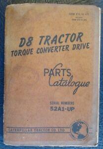CATERPILLAR-D8-TRACTOR-TORQUE-CONVERTER-DRIVE-SPARE-PARTS-BOOK-LIST-1963