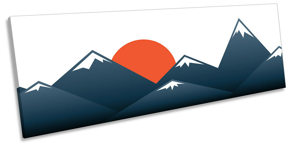 Giapponese SUNSET MONTAGNE Foto Panorama Tela Wall Art Print