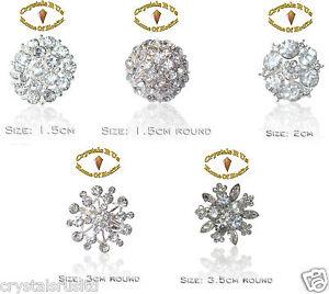 ROUND-FASHION-vintage-BROOCH-BROACH-CRYSTAL-DIAMOND-bling-WEDDING-BRIDAL-BOUQUET