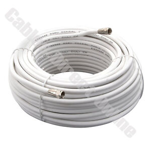 100FT Extension Coax Coaxial Satellite Dish Cable TV Antenna Wire ...