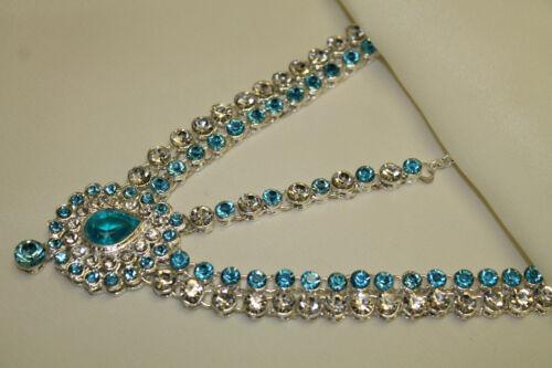 Diamante Hijab Matha Patti New Tikka Bridal Prom Costume Head Jewellery
