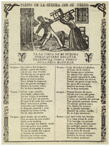 Son /& Mother in law fight Mexican History.1061 Graphic Art Design Decor Poster