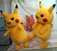 2016 Pokemon Pikachu Adult Mascot Costume Fancy Dress for Halloween Advertise
