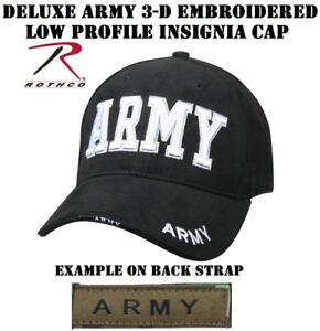 48b6011729a Army 3-D Deluxe Army Embroidered Low Profile Insignia Cap Rothco ...