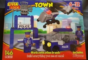 Details about BEST LOCK Town Police Station Set 146 pieces Brand New  Sealed(LEGO -compatible)