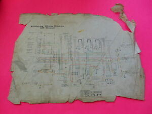 Oem Factory 1976 Kawasaki Kh500 Wiring Diagram Usa Model European Ebay