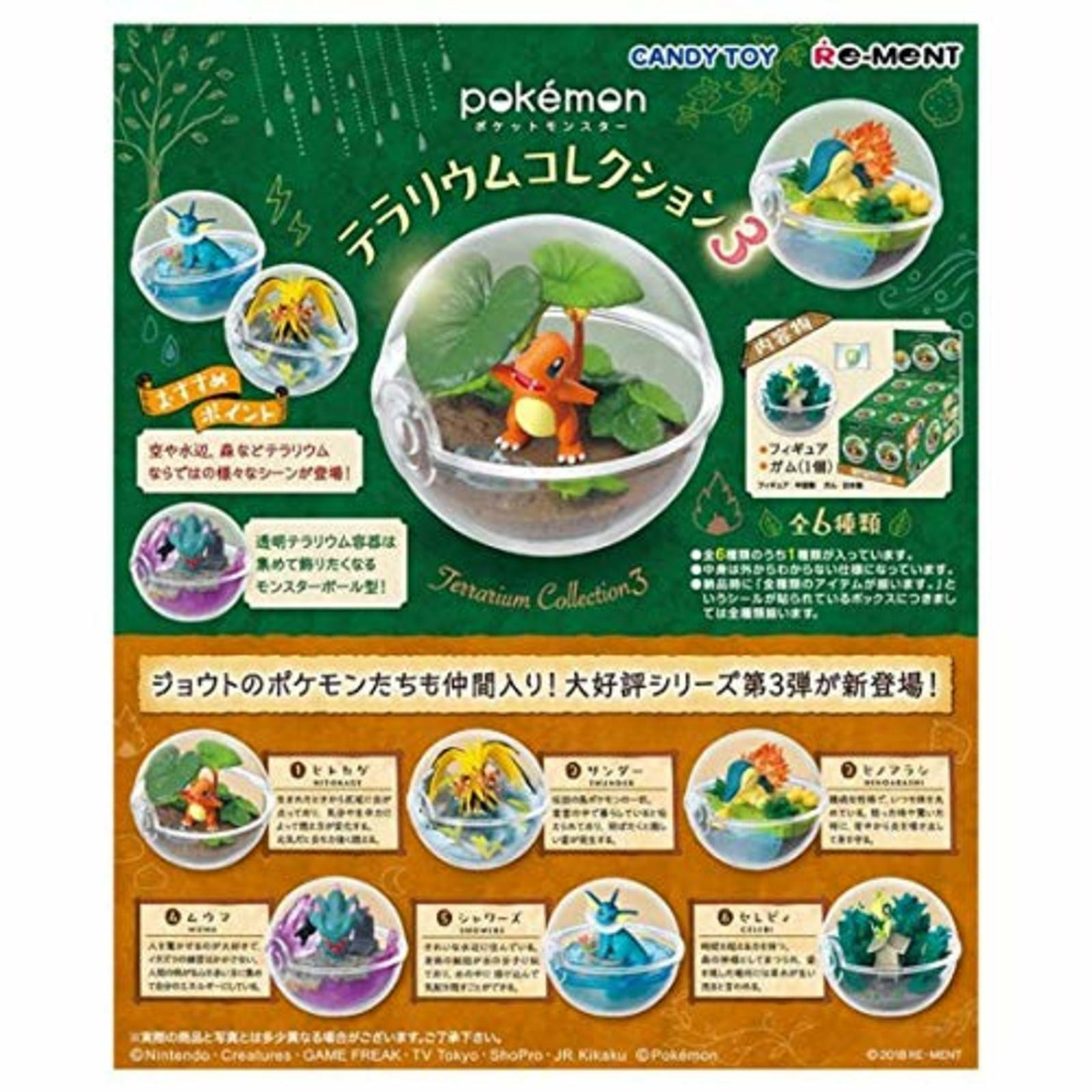 Re-Ment Pokemon Terrario Collezione 3 1BOX 6 Figura Completo Candy Giocattolo