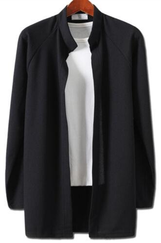 New Fashion Mens Waffle China Shawl Knit Cardigan Sweater Jumper Blazer Top W057
