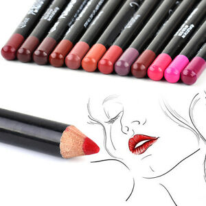12-Colors-Womens-Lady-Lip-Liner-Pencil-Long-Lasting-Make-Up-Lipliner-Pen-12cm