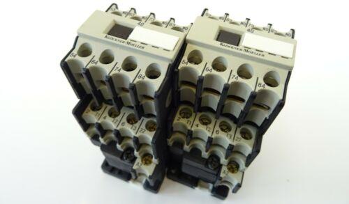 2x Leistungsschütz Klöckner Moeller DIL00M-01 Schütz 220V Contactor 4kW 40DIL