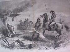 1885 Western Frontier Print - Massacre On A Settler's Cabin in Arizona Frontier