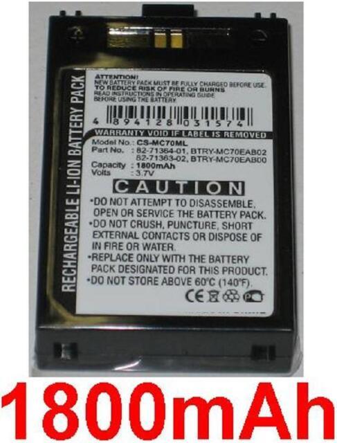 Battery 1800mAh type MC70EAB00 For Symbol MC70