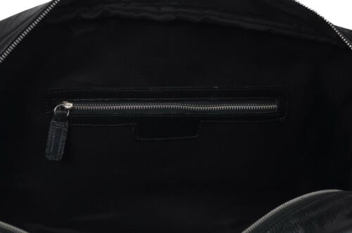 Duffel Bag Black Cowhide Leather Weekend Holdall Overnight Gym Work Duffle Style