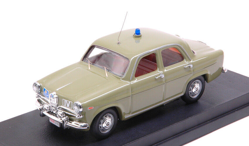 Alfa Romeo Giulietta Police 1961 Museum  of Rome 1 43 Model rio  centre commercial de la mode