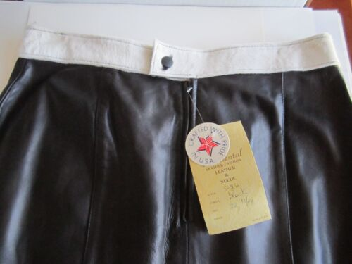 Skirt Black amp; 32 Leather Size Suede New Brand Continental Ra7twqn