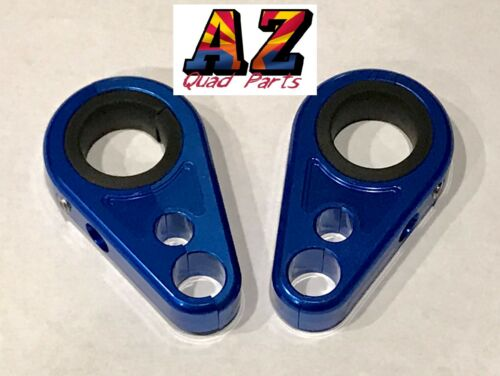 Billet Blue Front A-Arm Brake Line Clamps Yamaha YFZ450 YFZ450R YFZ450X YFZ 450