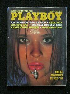 Vintage Playboy Magazine  Feb 1977  Higher Grade!!  Very Nice Copy!! See Pics!!