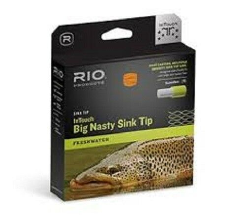 nuovo RIO 4D INTOUCH gree NASTY FIS3S5  8 WEIGHT FORWARD SINK TIP FLY LINE