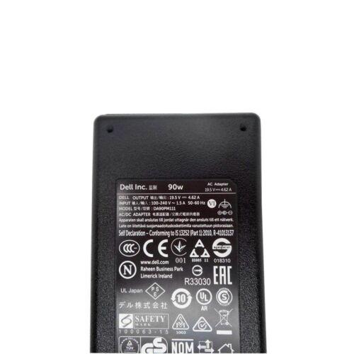 ORIGINALE DELL Latitude e6320new Laptop 90w PIATTO Caricabatterie Power Supply Unit