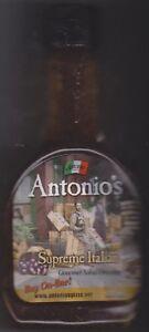 Details about 2 ANTONIO'S FAMOUS SUPREME ITALIAN GOURMET SALAD DRESSING  PIZZA CLEVELAND OHIO