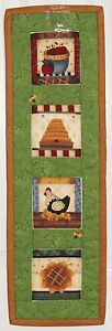 Country-Chicken-Apples-Flower-amp-Bees-Handmade-Wallhanging-Quilt