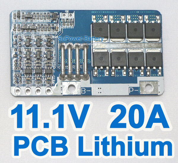 PCB 10.8V 11.1V 12V 20A 3S Li-ion Lithium Battery Input Ouput Protection Board