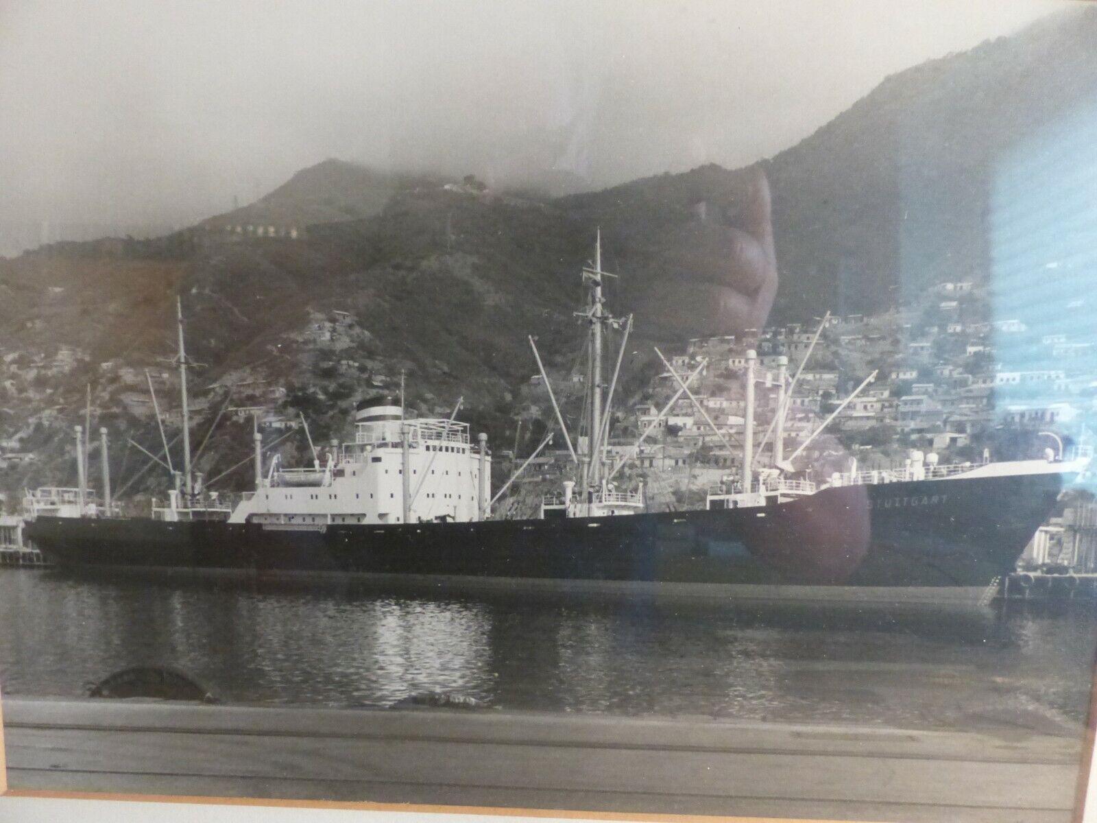 Selten und rah, gerahmtes Foto der MS STUTTGART der Hamburg-Amerika-Linie