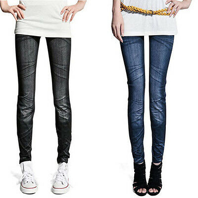 New Womens Skinny Denim Stretch Jeggings Tights Trousers Jeans Pants Leggings