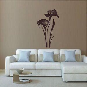 wandtattoo wandaufkleber calla pflanze blume bl te flur wohnzimmer 102 xl. Black Bedroom Furniture Sets. Home Design Ideas