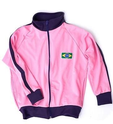 Capoeira Pink Zipped Kids Girls Children Jacket Brazil Tracksuit Long Sleeve