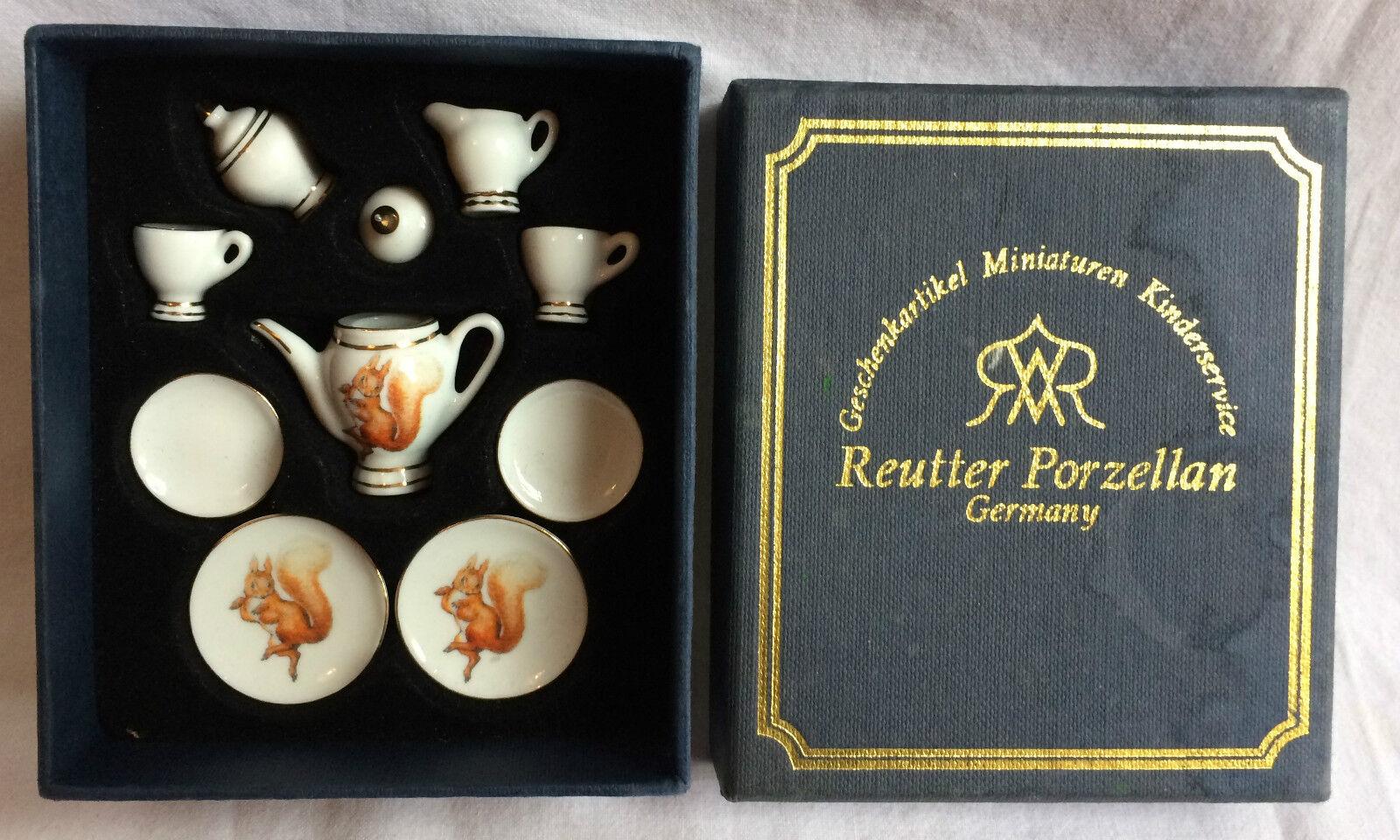 colores increíbles Reutter Porzellan Café Set  ardilla ardilla ardilla Nogalinay Beatrix Potter   en Caja Vintage  más vendido
