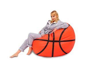 Sitzsack basketball 55 x 100Øcm kunstleder bean bag gamer sessel