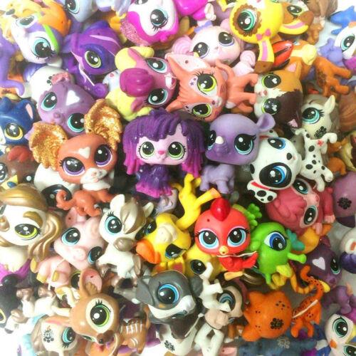 Random Hasbro Littlest Pet  Shop LPS Figure Dog Puppy Cat Kitten Animals Toys