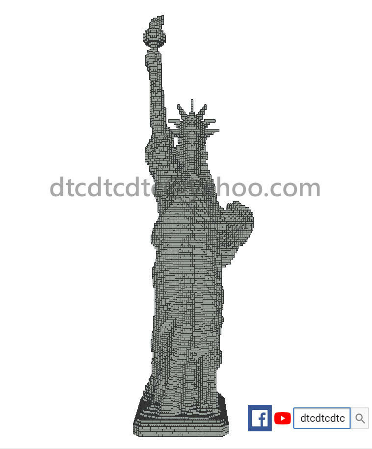 PDF Instructions only only only  LEGO MOC  Statue Of Liberty 170CM Sculpture 7e3f4c