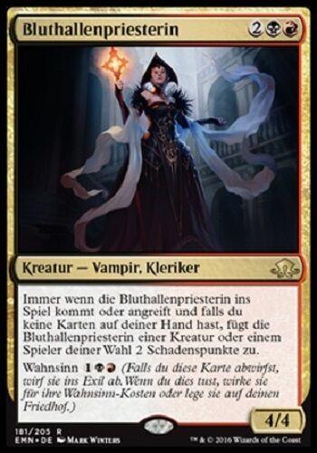 Comme neuf, düstermond, allemand Bloodhall Priest//bluthallenpriesterin