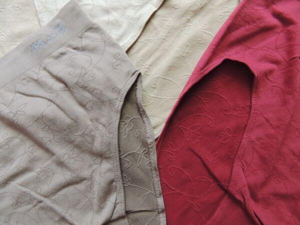 5 Damen Slips mit Blumenmuster 42 44 46 48 50 52 54 Slip Übergröße Unterhose