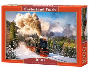 Castorland C-103409-2 - Steam Train, Puzzle 1000 Pieces - New