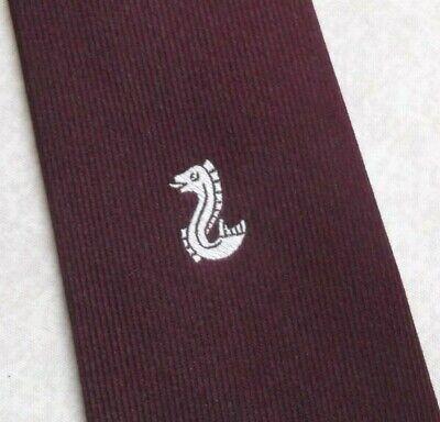 Entusiasta Vintage Cravatta Da Uomo Cravatta Crested Club Associazione Società 1980s By Macaseta-mostra Il Titolo Originale