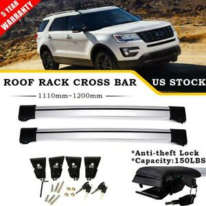 Pair Roof Rack Cross Bars Rail 150lbs Luggage Carrier For