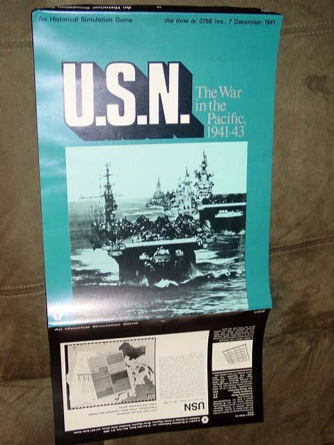 (SPI) 1971 - U.S.N. game -  US Navy  & The War in Pacific 1941-1943 (PUNCHED)