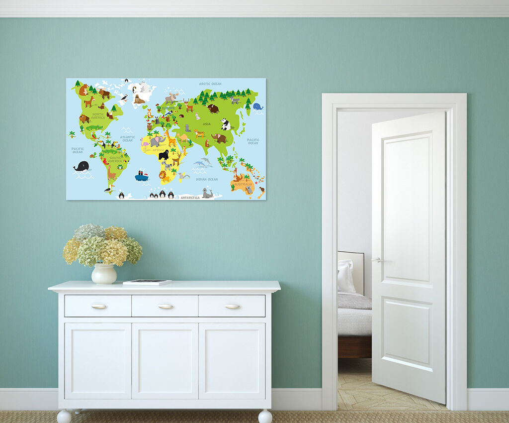 3D Grün Map 423 Fototapeten Wandbild BildTapete AJSTORE DE Lemon