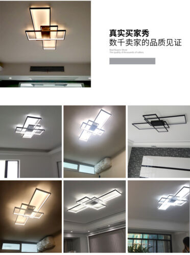Modern style acrylic LED ceiling light square living room lighting chandelier