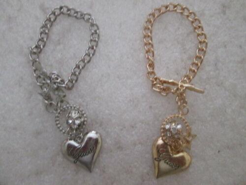 bracelet guess coeur argenté ou or