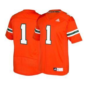 Miami huracanes #1 de la NCAA Adidas para hombre naranja oficial ...