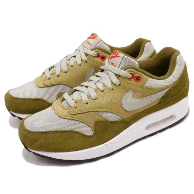 Nike Air Max 1 Premium Retro Green Curry Mens 908366 300 Size 9