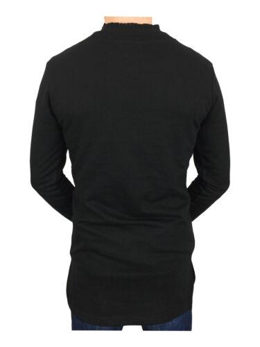 King kouture homme long pull avec barres obliques en noir