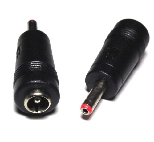 UK DC Power 3.5mm x1.35mm Male Plug To 5.5x2.1mm Female Jack Adapter Connector