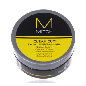 Paul Mitchell Mitch Clean Cut Medium Hold/Semi Matte Styling Cream 3oz/85g
